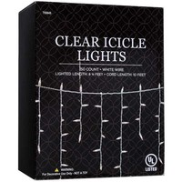 Clear Icicle Light Set with White Wire | Hobby Lobby