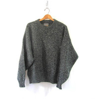 Speckled gray Sweater. oversized baggy sweater.