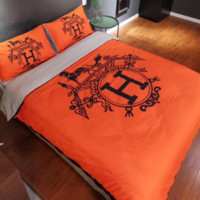 Comfortable HERMES 4 PC Bedding Set Conditioning Throw Blanket Quilt For Bedroom Living Rooms Sofa