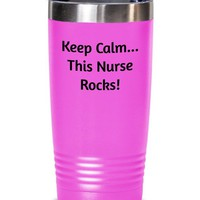 Nurse Coffee Tumbler, Funny Tumbler Cup, Hot Or Cold Stainless Steel Travel Mug, Nurse Birthday Gift Idea, Nurse Coworker Or Boss Gift