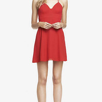 STRAPPY BABYDOLL DRESS - RED from EXPRESS