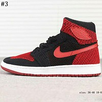 Nike Air Jordan 1 Retro High Flyknit AJ1 Flying woven high-top basketball shoes F-A-FJGJXMY #5