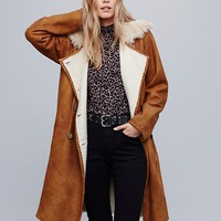 Free People Sherpa Suede Trench