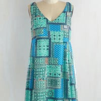 Mid-length Sleeveless Shift Pedal to the Medley Dress by ModCloth