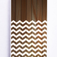 Chevron On Wood for Iphone 5C Hard Cover Plastic
