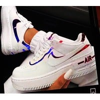 Onewel NIKE AIR FORCE AF1 White Shoes Starry sky Edge mandarin duck  Two-color shoes