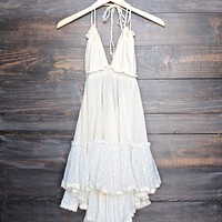 Eternal Grace Crinkle Gauze Halter Dress
