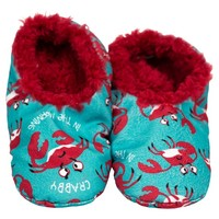 Lazy One Fuzzy Feet Slippers - Crabby in the AM FF918B