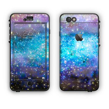 The Glowing Space Texture Apple iPhone 6 Plus LifeProof Nuud Case Skin Set