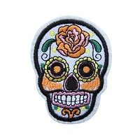 Sugar Skull Iron On Patch