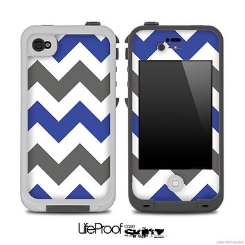 Navy & Gray Chevron Pattern Skin for the iPhone 5 or 4/4s LifeProof Case