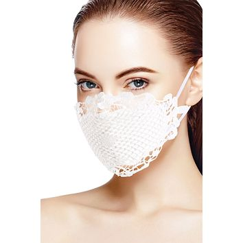 White Lace 'Couture Collection' Face Mask