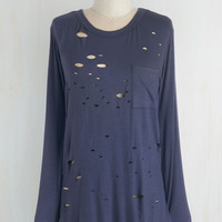 Mid-length Long Sleeve Edgy Does It Top