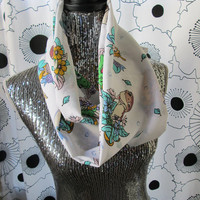 Vintage The Land Before Time Infinity Dinosaur Cozy Circle Scarf