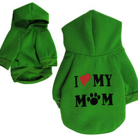 Love Mommy Clothing for Dog Coat Pet Dog Clothes Puppy Hoodies Jacket Small Dog Apparel Pet Cat Costumes Roupas de Perros 2