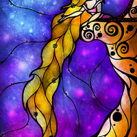 Rapunzel (Once Upon A Time Series) Art Print by Mandie Manzano