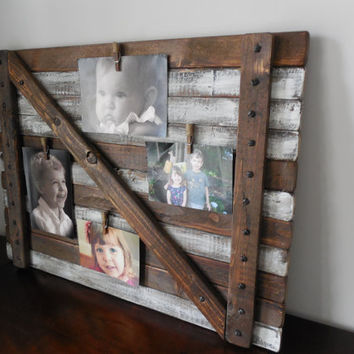 Picture  frame Large Rustic/shabby chic wall hanging / farmhouse barn door