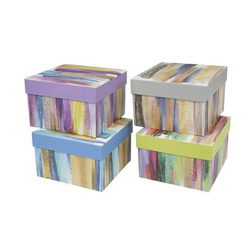 3 Piece Nested Gift Box Set- Assorted - 12 Units