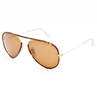 Ray-Ban Aviator Classic Sunglasses Tortoise One Size For Men 25243640101