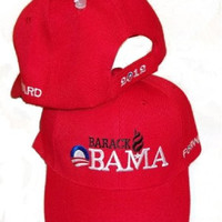 President Barack Obama Forward 2012 Red Embroidered Adjustable Hat Baseball Cap