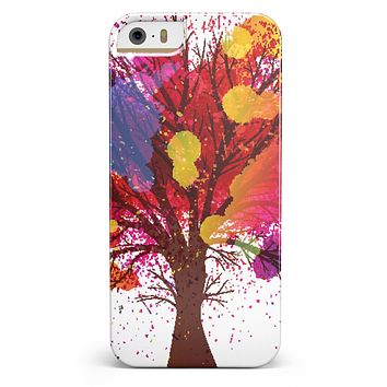 Crazy Splatter Tree iPhone 5/5s or SE INK-Fuzed Case