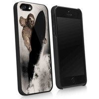 sloth in baloon - iPhone 4 / 4s / 5 case Black / White case