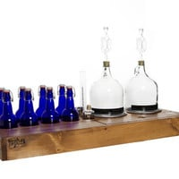 Handcrafted HopBox 2 Gallon Homebrewing Kit - made from reclaimed wood