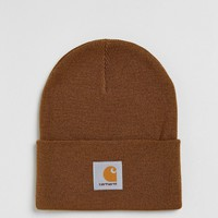 Carhartt WIP Watch Beanie In Brown at asos.com