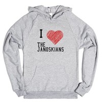 I love the Janoskians-Unisex Heather Grey Hoodie