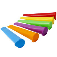 Evelots® Silicone Ice Pop Maker Molds/Popsicle Molds, Set Of 6