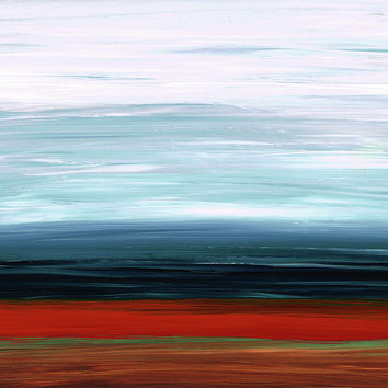 Abstract Landscape - Ruby Lake - Sharon Cummings