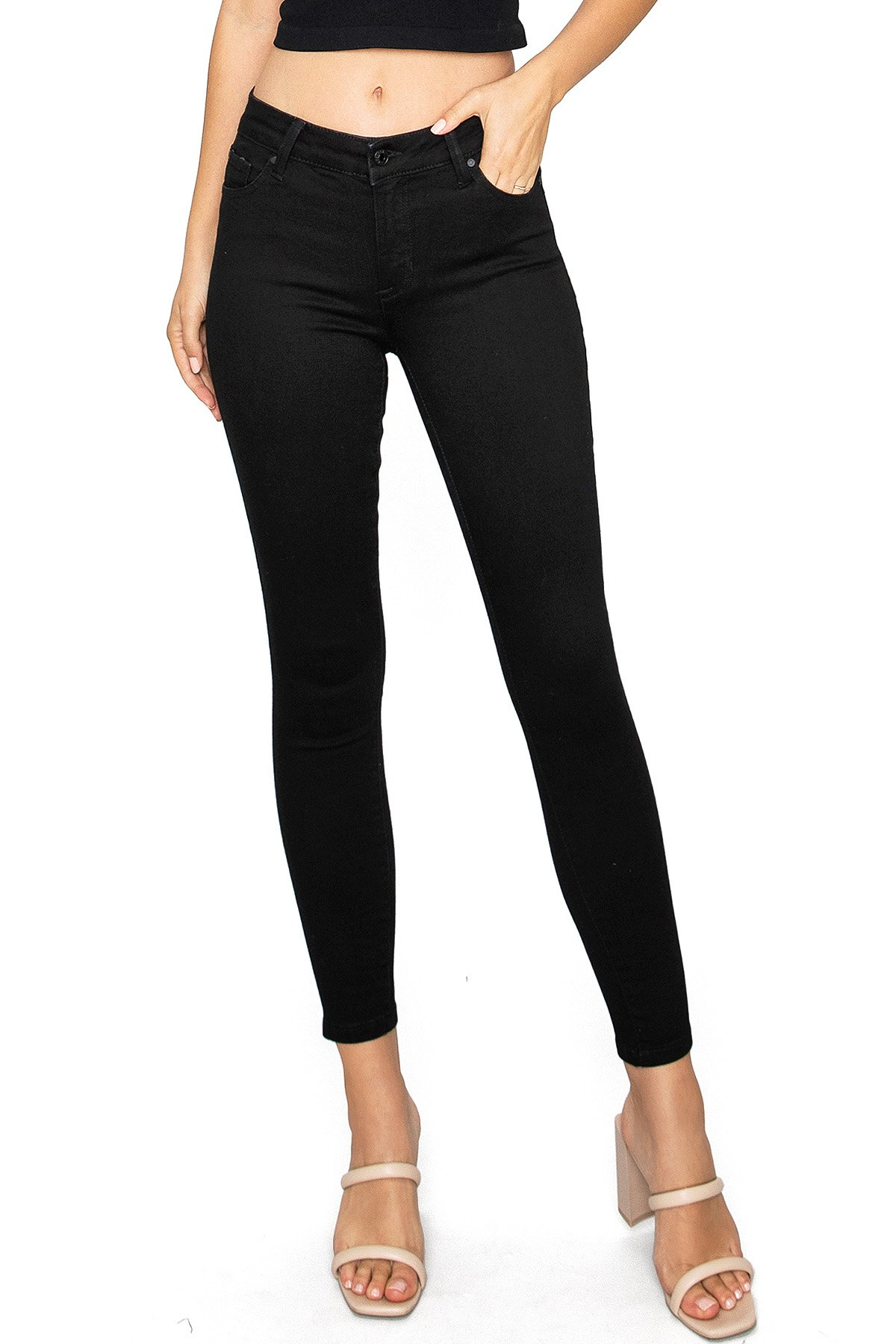 Image of Sustainable Mid-Rise Skinny Jeans