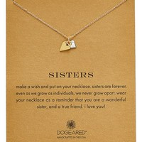 Women's Dogeared 'Reminder - Sisters' Pendant Necklace (Nordstrom Exclusive)