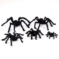 New Halloween Horrible Big Black Furry Fake Spider Size 30cm,50cm,75cm Creep Trick Or Treat Halloween Decoration