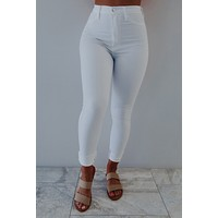 Just In Time Jeans: White