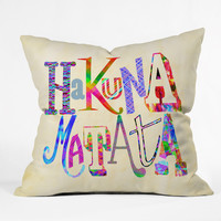 Fimbis Hakuna Matata Outdoor Throw Pillow