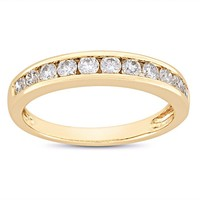 1 Carat Diamond Anniversary Ring in 14K Yellow Gold