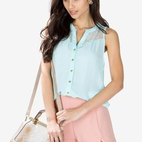 Gemma Lace Sleeveless Blouse