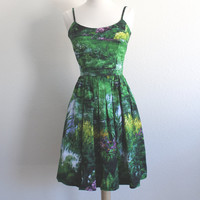 Nature Landscape Print Dress - Available in Sizes XS-XL