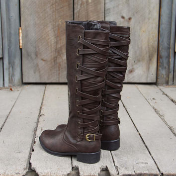 The Braided Back Boots