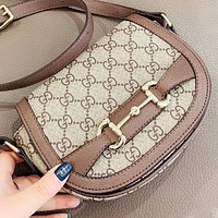 GUCCI New fashion more letter leather shoulder bag women crossbody bag saddle bag