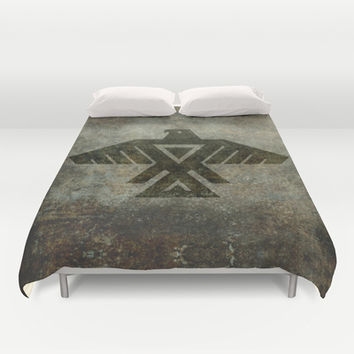 Emblem of the Anishinaabe people - Vintage version Duvet Cover by LonestarDesigns2020 - Flags Designs +