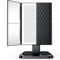 Makeup Mirror Vanity Mirror with Lights - 3 Color Lighting Modes 72 LED Trifold Mirror,