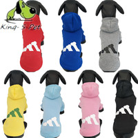 KING-S PET Dog Cat Clothes Fashion Style Dog Clothing Warm Puppy Coats Hoodies Cat Cotton Costume Teddy Chihuahua Adidog Clothes