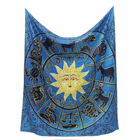 Sun Indian Mandala Tapestry 150x130cm Wall Hanging Bohemian Bedspread Home Room Decorative Textiles Throw Blanket Dorm Cover