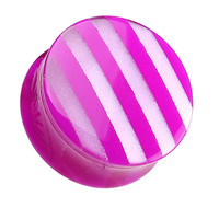 Marbled Stripe Double Flared Ear Gauge Plug