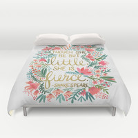 Little & Fierce Duvet Cover by Cat Coquillette   Society6