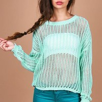 Net Case Sweater | Trendy Clothes at Pink Ice