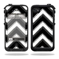 Mightyskins Protective Vinyl Skin Decal Cover for LifeProof iPhone 4 / 4S Case wrap sticker skins Chevron Style