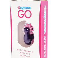 Sqweel Go Rechargable Oral Sex Stimulator - Purple